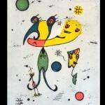 KarlKueffel Pajaro a Color, 1997 litografia unica, 29.85x39.37cm