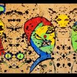 KarlKueffel,Dos Figuras,1997,Acrilico y Acuarela,99.06x73.66
