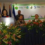 La embajadora Hsing durante la inaguración del curso de prevención de desastres.