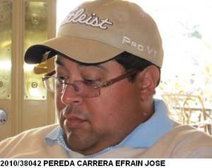 Efraín José Pereda Carrera,
