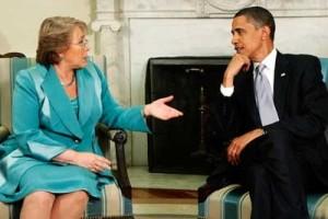 Obama y Bachelet