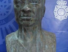 El busto de Rubén Darío que había sido robado en España.