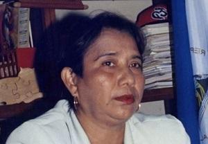 La diputada Felícita Zeledón.