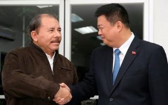 Wang Jing y el presidente Daniel Ortega.
