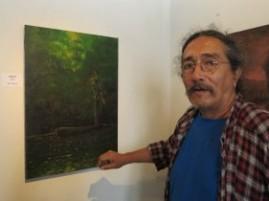 Víctor Canifrú, un artista chileno radicado en Nicaragua desde hace varias décadas.