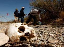 Imagen de referencia de otro caso de migrante que no soportó los rigores de la marcha en el desierto.