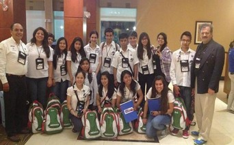Los estudiantes tlaxcaltecas invitados a exponer su experiencia en Nicaragua.