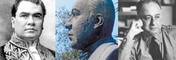 El busto de en medio es el presunto Rubén Darío, en los extremos el bardo y el ex dictador Somoza García.
