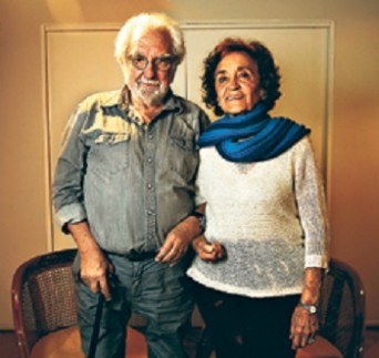 El escritor argentino Pacho O'Donnell y la nicaragüense Myrna Torres.