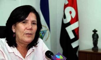 Marcia Ramírez Mercado, ministra de la Familia, Adolescencia y Niñez de Nicaragua.