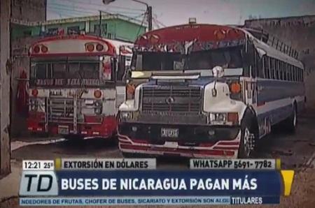 buses extorsión