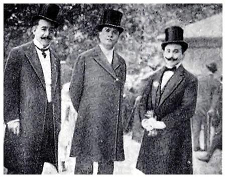 Rubén Darío con Leopoldo Lugones y Francisco Contreras.