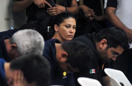 """Raquel Alatorre Correa y algunos de los otros detenidos por el """"caso Televisa""""."""