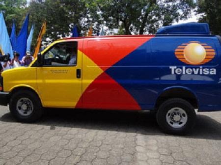 Una de las camionetas capturadas en Nicaragua e inscritas en México a nombre de Televisa.