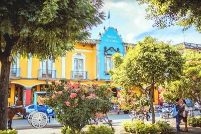 El Hotel Selina Alhambra en Granada, Nicaragua.