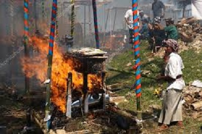 Cremación hundú, imagen ilustrativa.