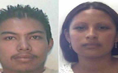 Mario Alberto Reyes Nájera y Gladis Giovana Cruz Hernández, presuntos asesinos de la menor Fátima Cecilia en México.
