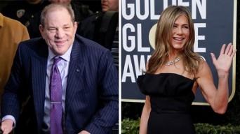 Harvey Weinstein y Jennifer Aniston.